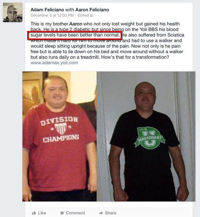Now here are some Amazon reviews of diabetics who were able to change ...