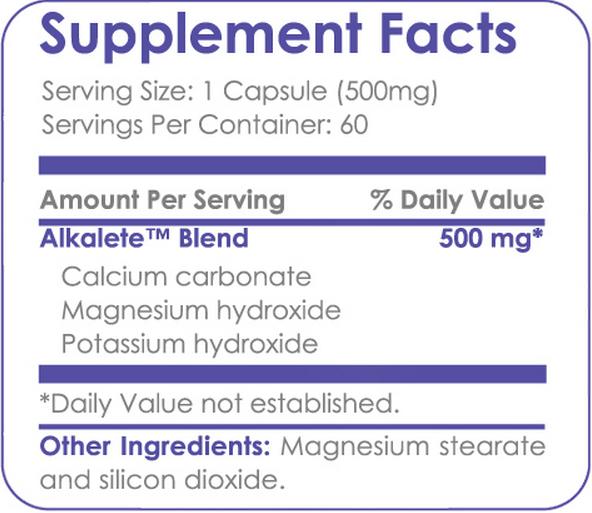 yoli alkalete ingredients