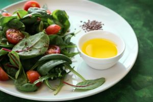 flax seeds on spinach salad the ultimate high alkaline food
